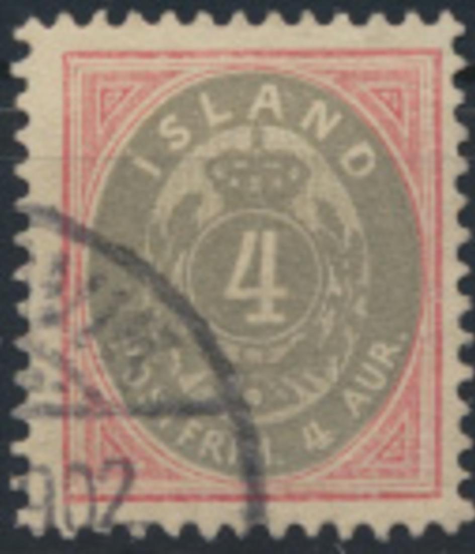 Island 20 gestempelt Freimarke Ziffer mit Krone im Oval 1900