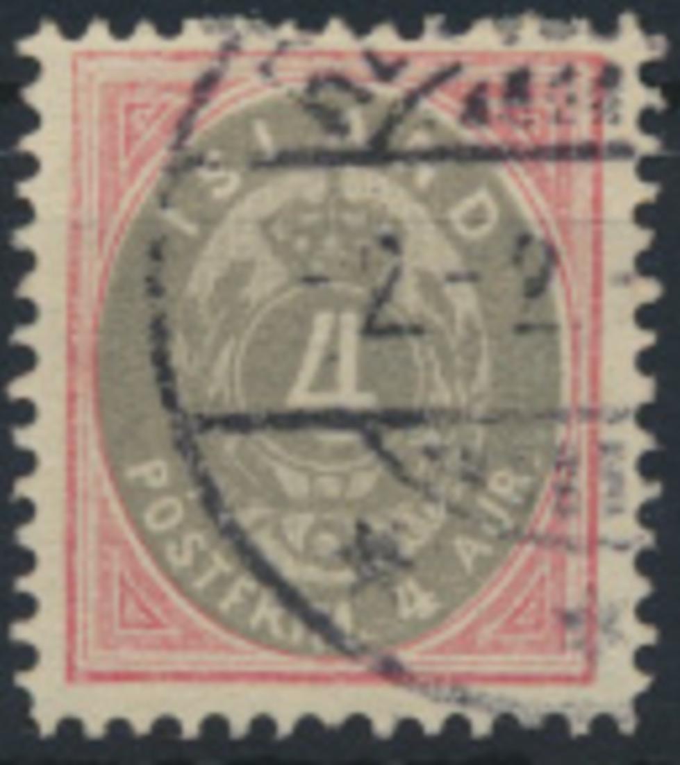 Island 20 gestempelt - Freimarke Ziffer mit Krone im Oval 1900