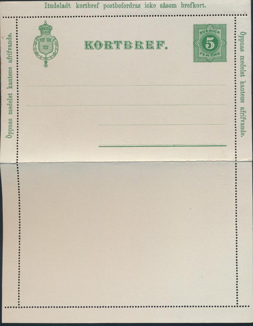 Schweden Ganzsache Kartenbrief K 1 + 2 5 + 1oÖ 1899 jeweils tadellos ungebraucht