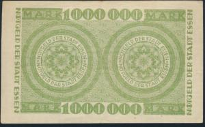 Banknote Notgeld Stadt Essen 1 Million Mark ss 12.08.1923