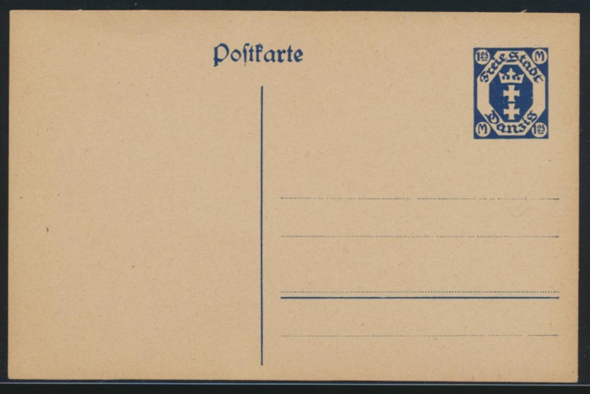 Danzig Ganzsache P 21 1,25 Mark Danziger Wappen ungebraucht