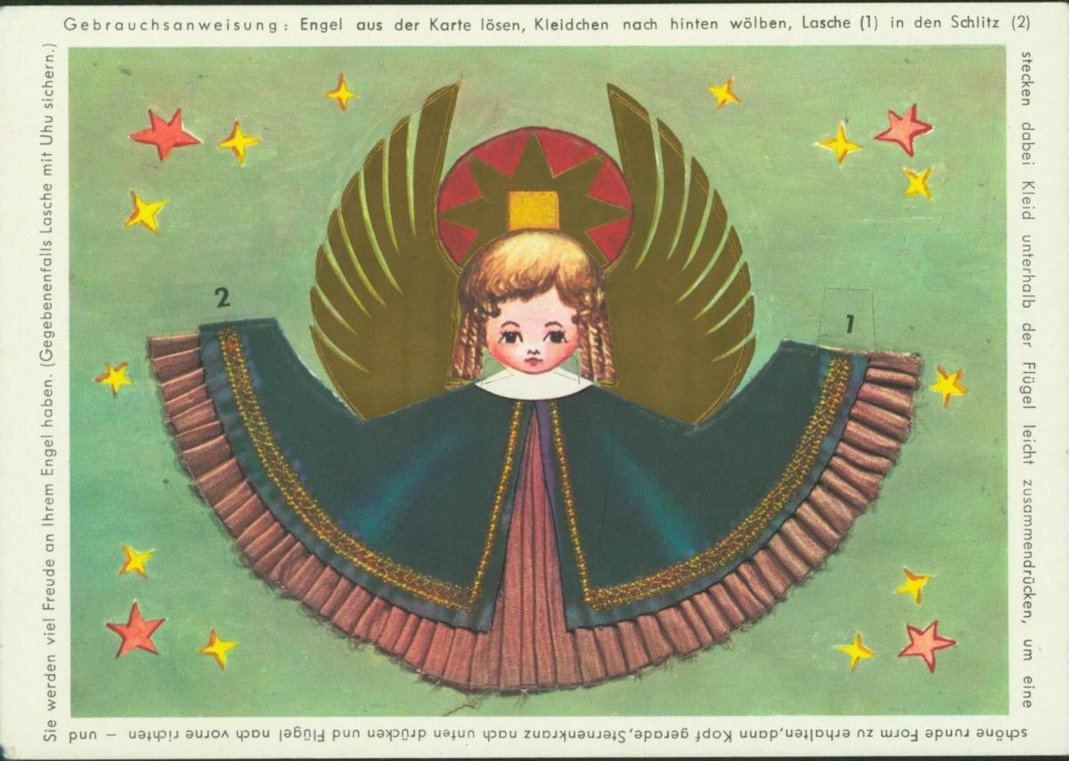 Weihnachten Engel zum heraustrennen keine Ansichtskarten-Einteilung