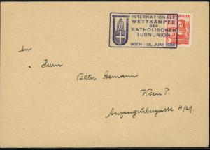 Österreich 568 Sport selt. SST. Wettkämpfe Katholische Turnunion Wien Sport