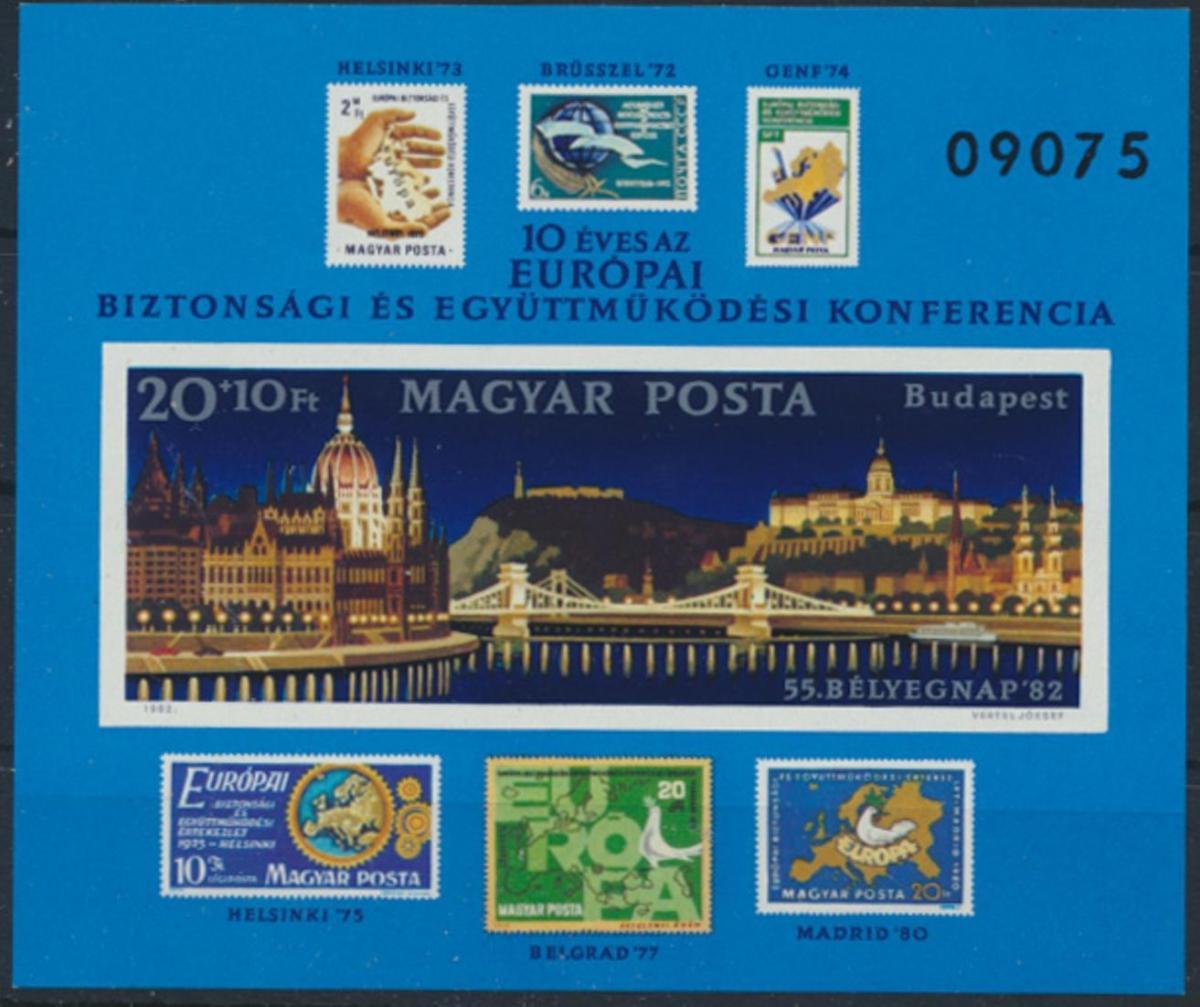 Ungarn Block 159 B postfrisch - 10 Jahre KSZE 1982