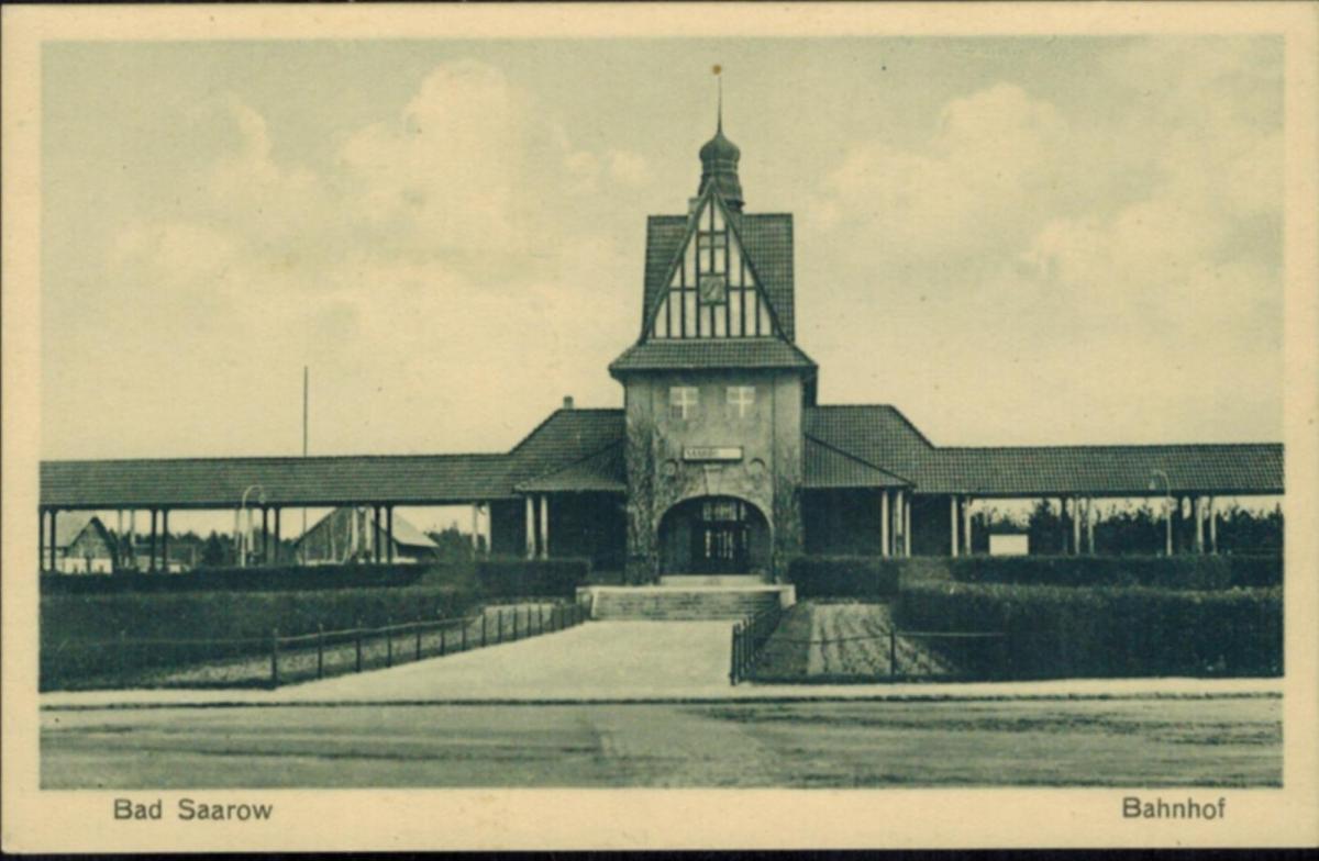 Ansichtskarten Bad Saarow Topographie Deutschland Bahnhof ungelaufen