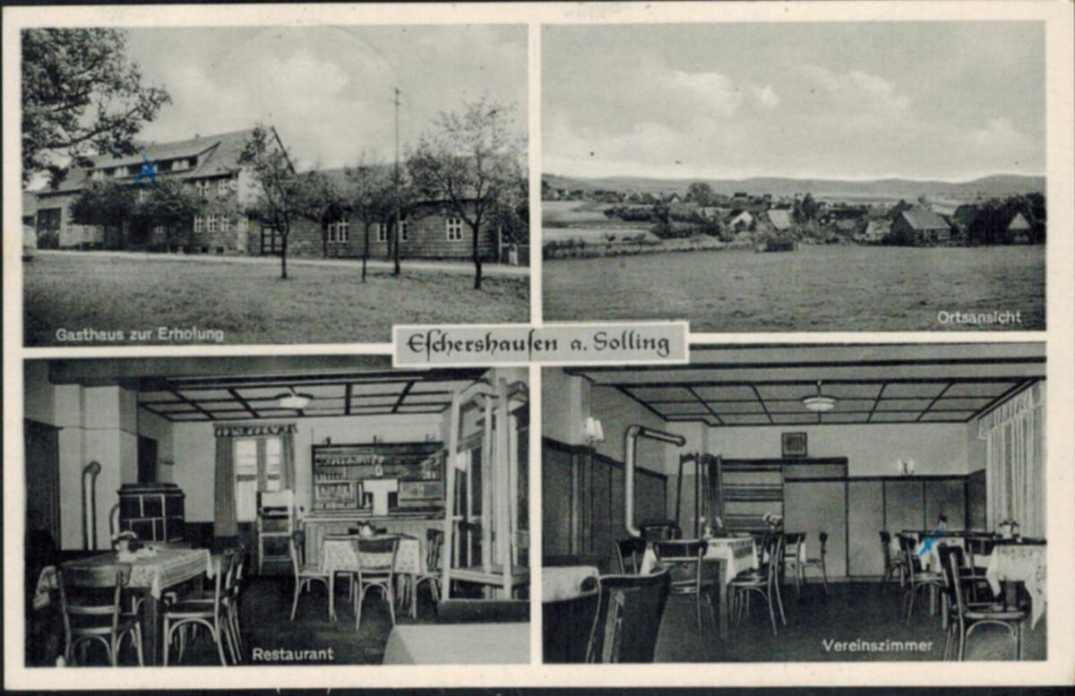 Ansichtskarten Eschershausen an Sonlig Topographie Deutschland gelaufen