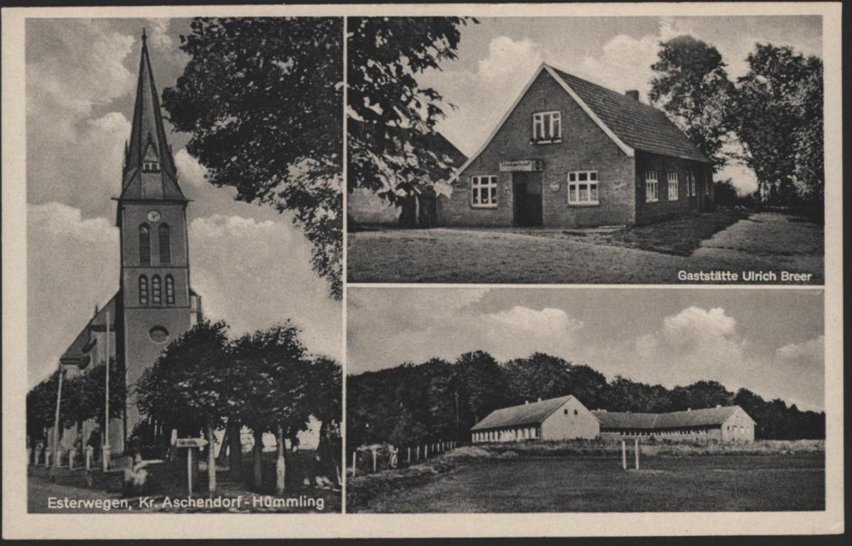 Ansichtskarte Esterwegen Kr. Aschendorf - Hümmling Gaststätte Ulrich Breeer