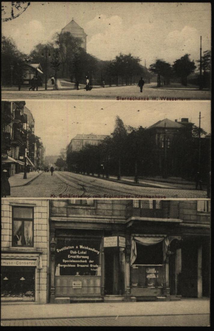 Anischtskarte Hamburg Destillation & Weinhandlung Ernst Hornung n. Neumühlen