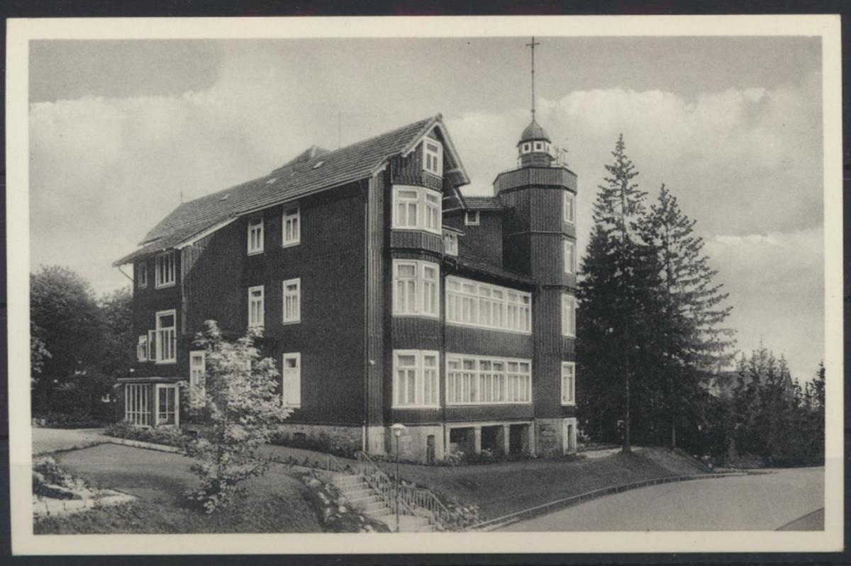 Ansichtskarte Foto Posterholungsheim Waldröhe Braunlage Harz