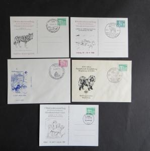 Briefe und Karten Sammlung Motiv Hunde DDR 5 Stück dabei Schlittenhunde und