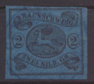 Altdeutschland Braunschweig 7 a Luxus gerandet gestempelt Kat.-Wert 80,00