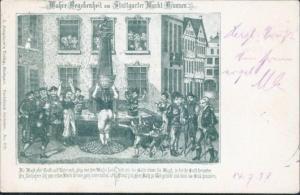 Ansichtskarte Erotik Stuttgart 1898 Die Magd ohne Hemd u. Unterrock München 1898