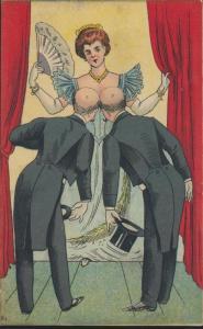 Ansichtskarte Humor Erotik inter. Litho hnadcoloriert um 1900-10 ungelaufen