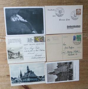 Musik Sängerfeste Sammlung alter Briefe Ganzsachen u. Ansichtskarten Alle Welt