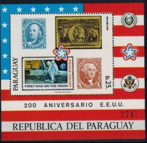 Paraguay Blockausgabe 200 Jahre USA Briefmarken postfrisch 1976