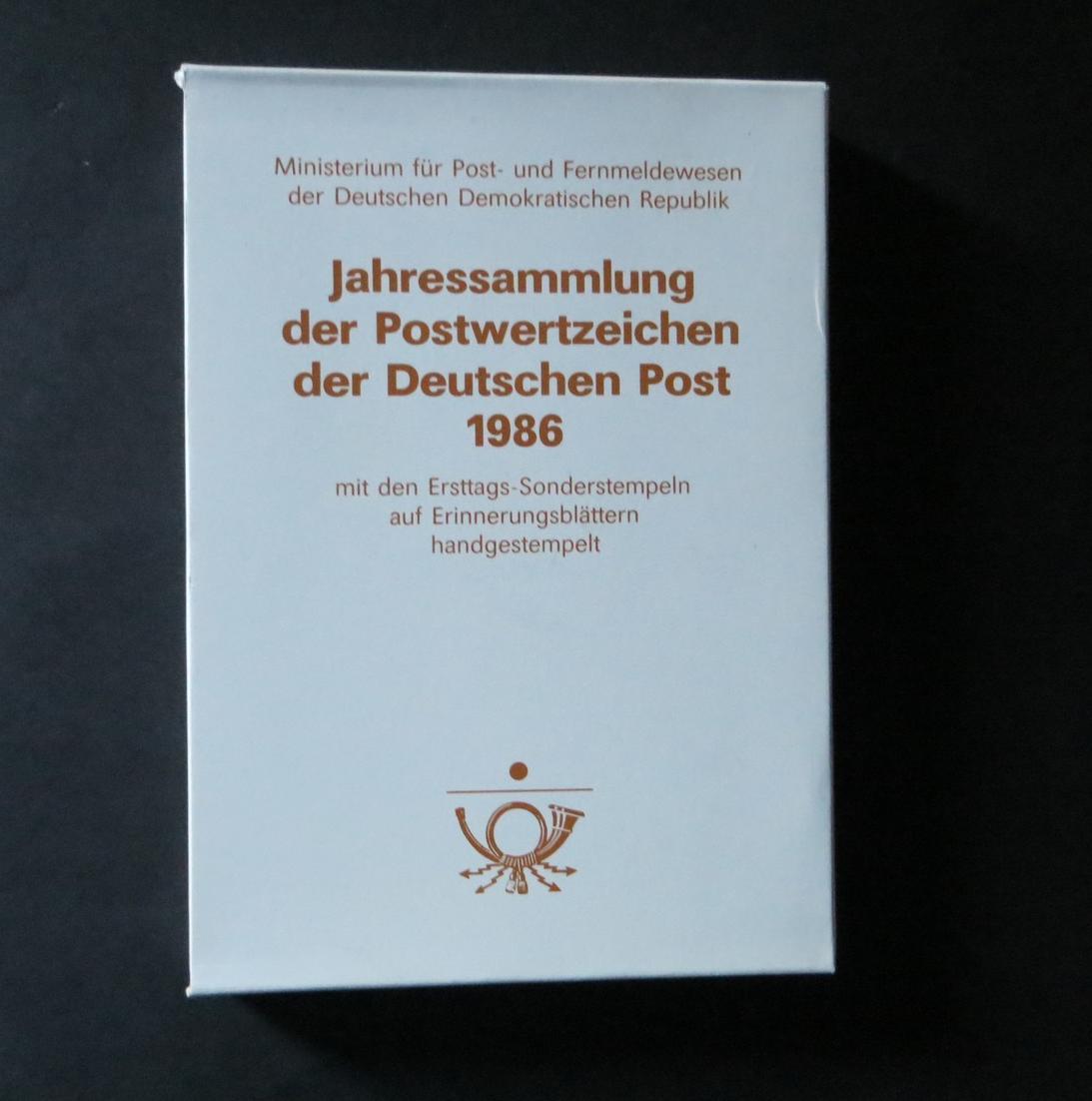 DDR Ersttagsblatt - Jahressammlung 1986 mit ESST handgestempelt Kat.-Wert 120,- 0