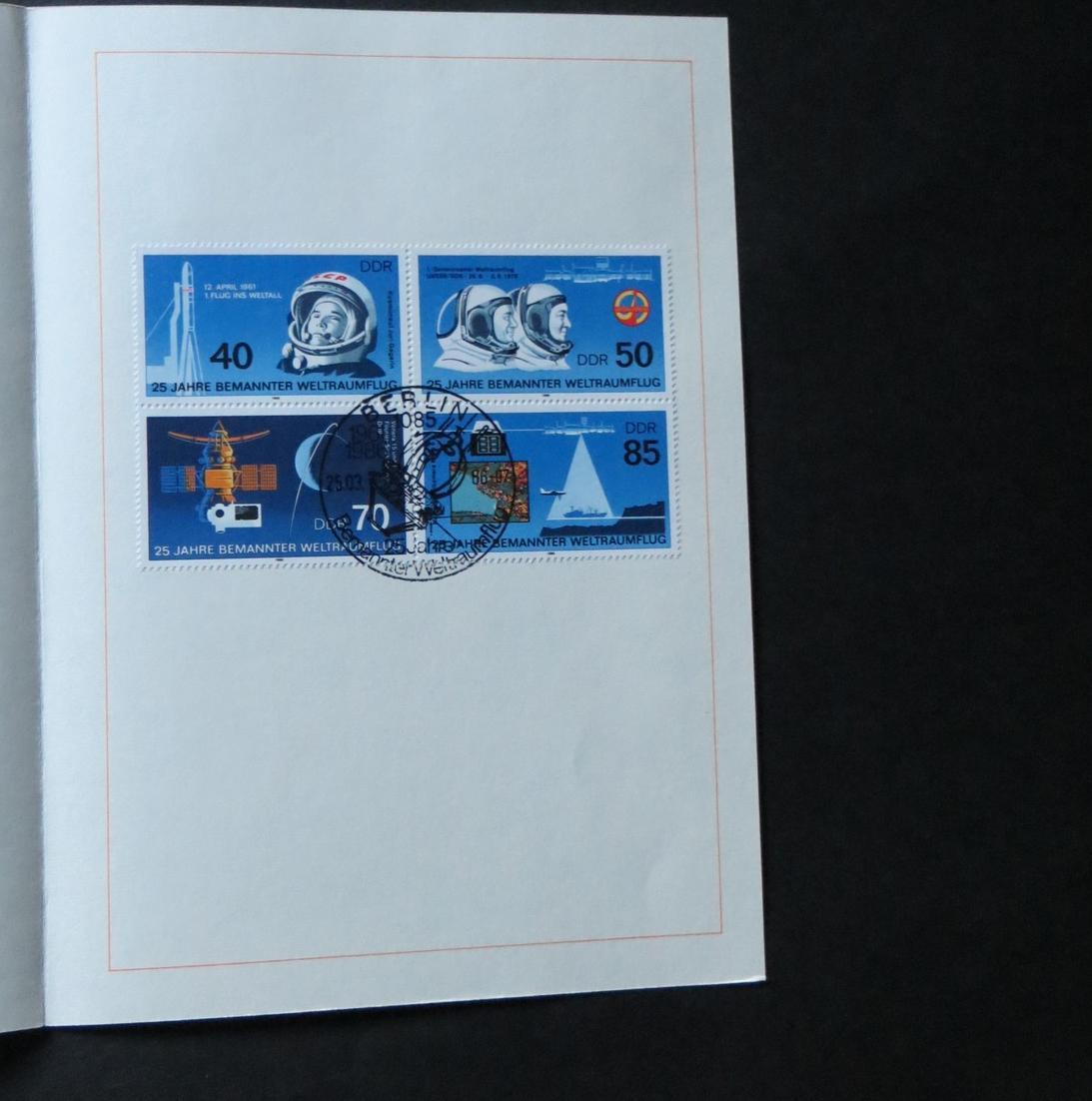 DDR Ersttagsblatt - Jahressammlung 1986 mit ESST handgestempelt Kat.-Wert 120,- 5