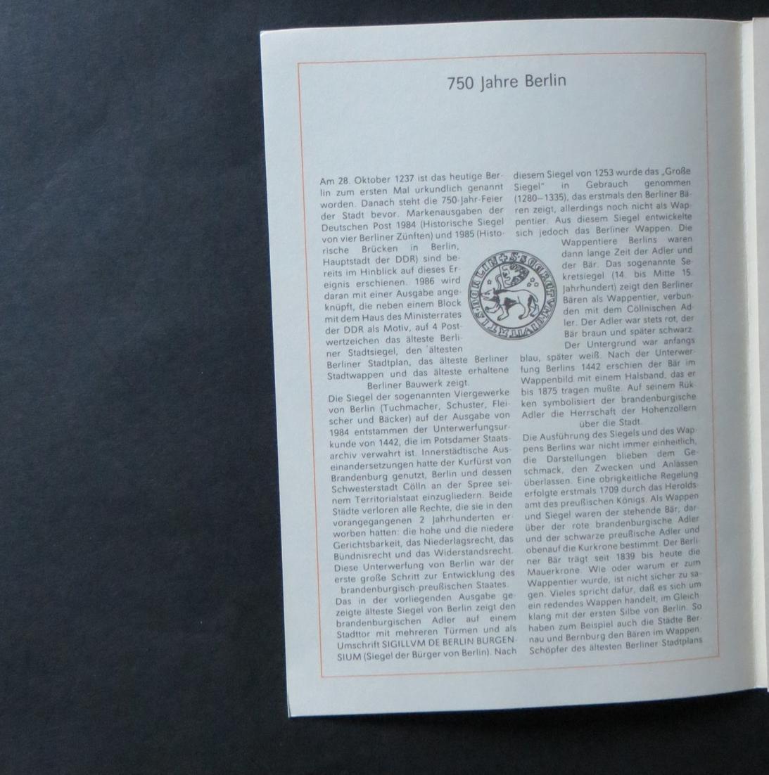 DDR Ersttagsblatt - Jahressammlung 1986 mit ESST handgestempelt Kat.-Wert 120,- 6