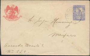 Mexiko Ganzsache Umschlag U 45 5c ultramarin mit Adler Tlacotal