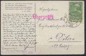 Ansichtskarte Zensur Reichenberg Böhmen Österreich 1915 nach döbern