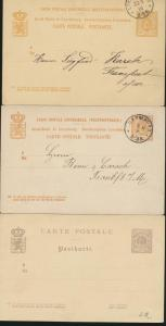 Luxemburg Lot von 5 Ganzsachen Lot of 5 postal stationery