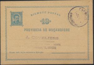 Mocambique Ganzsache P 1 10 Reis König Ludwig I. postal stationery King Ludwig