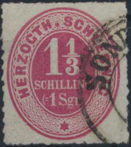 Altdeutschland Schleswig 15 mit Stempel K2 Sonderburg geprüft Richter