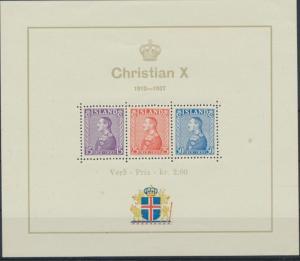 Island Block 1 tadellos postfrisch - Regentschaft von König Christian X
