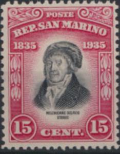 San Marino 218 Todestag Melchiorre Delfico 1935 15 C. ungebraucht *