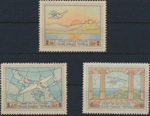 Griechenland 300, 302-303 Halbamtliche Flugpostmarken 1926 ungebraucht *