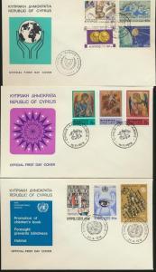 Zypern Lot von 8 Briefen Cyprus Lot of 8 Covers