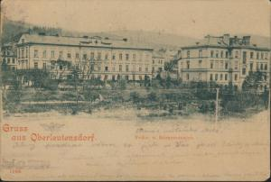 Ansichtskarte Oberleutensdorf Böhmen Schulen ab Pisek Horní Litvínov 1899