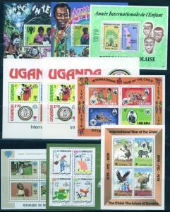 Sammlung Übersee Afrika 21 verschied. Blöcke Jahr des Kindes tolle Motive