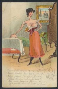 Ansichtskarte Litho Künstler Humor Scherzkarte Frauen Erotik 1902