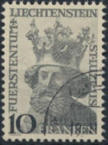 Liechtenstein 247 gestempelt  Freimarke  Heiliger Luzius