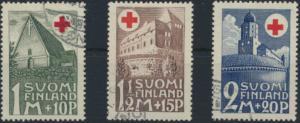 Finnland 164-166 gestempelt - Rotes Kreuz Baudenkmäler
