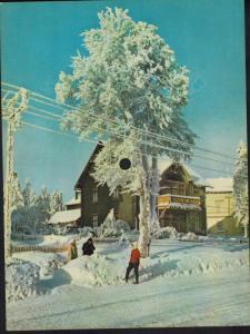 Musik Tönende Ansichtskarte Oberhof Lied Wintersport im Thüringer Wald