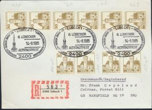 Bund R - Brief MEF 914 Rollen u.A. SST Lübeck nach Wissen Philatelie 14.9.1985