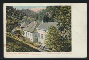 Ansichskarte Waldhausen Österreich Gasthaus Schmied Wolfsstraße
