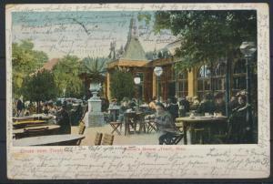 Ansichtskarte Österreich Tivoli Wallners Meiereri Wien 1905 nach Hamburg