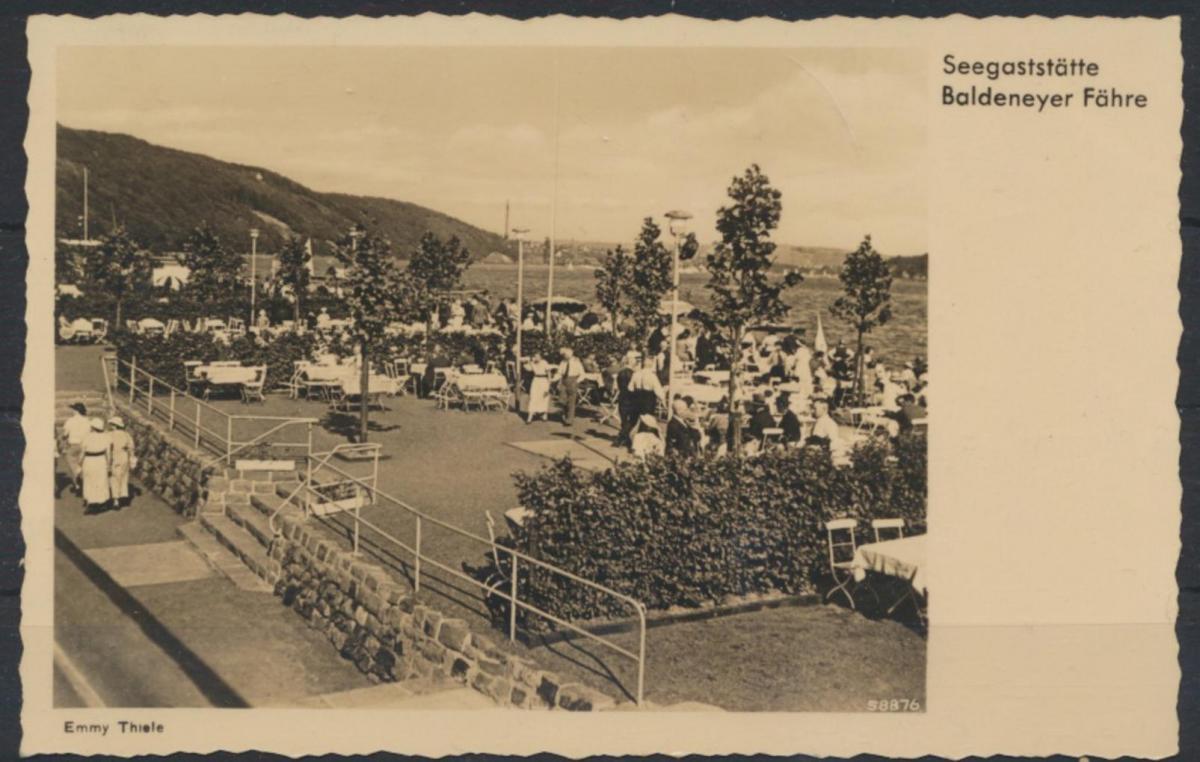 Ansichtskarte Essen Seegaststätte Baldeney See Fährentersdorf Inh. H. Kleinheidt 0