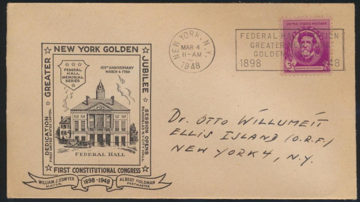 USA Brief Graeter New York Golden Jubilee Federal Hall Station 0