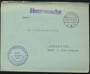 Militaria Deutsches Reich Brief Feldpost Heeressache I. Weltkrieg 22.10.1917