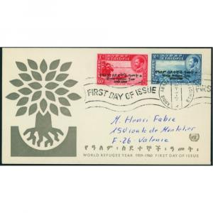 Äthiopien 389-390 Weltflüchtlingsjahr 20/60c 1960 auf FDC