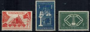 Luxemburg 552-554 Vier Jahre Montanunion 1956 Luxus postfrisch MNH Kat. 70,00