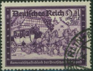 Deutsches Reich 778 Kameradschaftsblock Höchstwert 24+36 Pf. gestempelt.