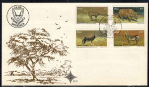 Südafrika 500-503 Brief FDC Geschützte Wildtiere 1976