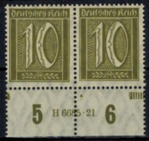 Deutsches Reich 159 Infla HAN Paar 10 Pfg., postfrisch