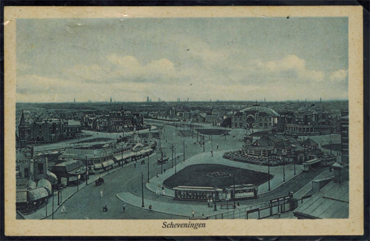 Ansichtskarten Scheveningen Den Haag Topographie Niederlande Eisenbahn ungelaufe 0