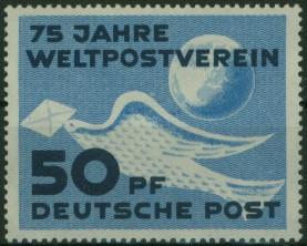DDR 242 75 Jahre Weltpostverein UPU Luxus postfrisch MNH Kat.-Wert 14,00